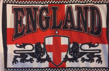 "ENGLAND DOUBLE SIDED FLAG - 17"" X 11"""